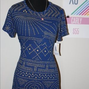 LulaRoe Carly Aztec, Dotted with Sun Rays Dress